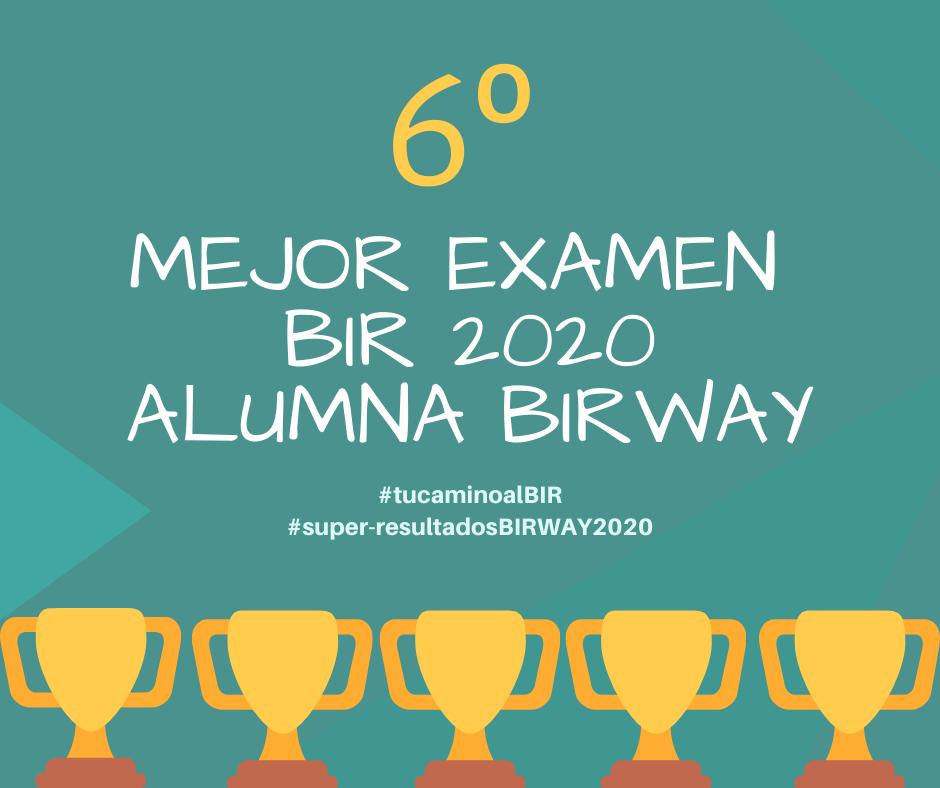 2 mejor examen bir 2019 alumna birway