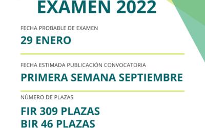 FECHA ESTIMADA DE EXAMEN 29 ENERO